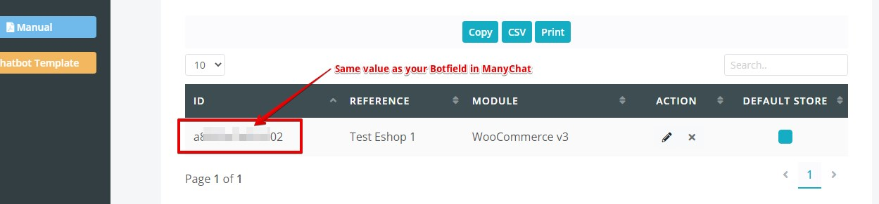 Added Botfield must match your Manychat botfield value